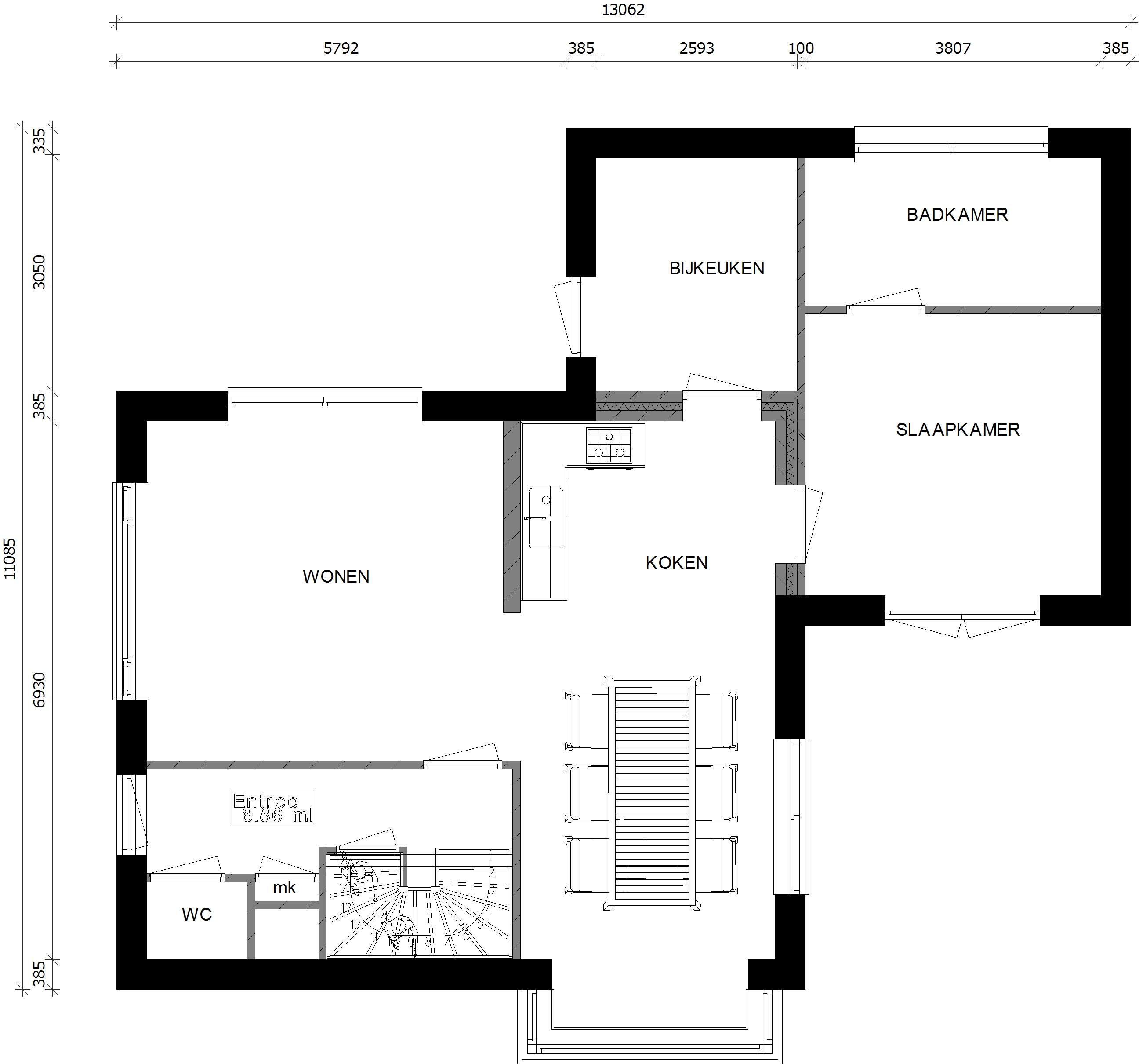 diverse fotosafbeeldingen van woningen met badkamerslaapkamer op de begane grond terug naar het overzicht