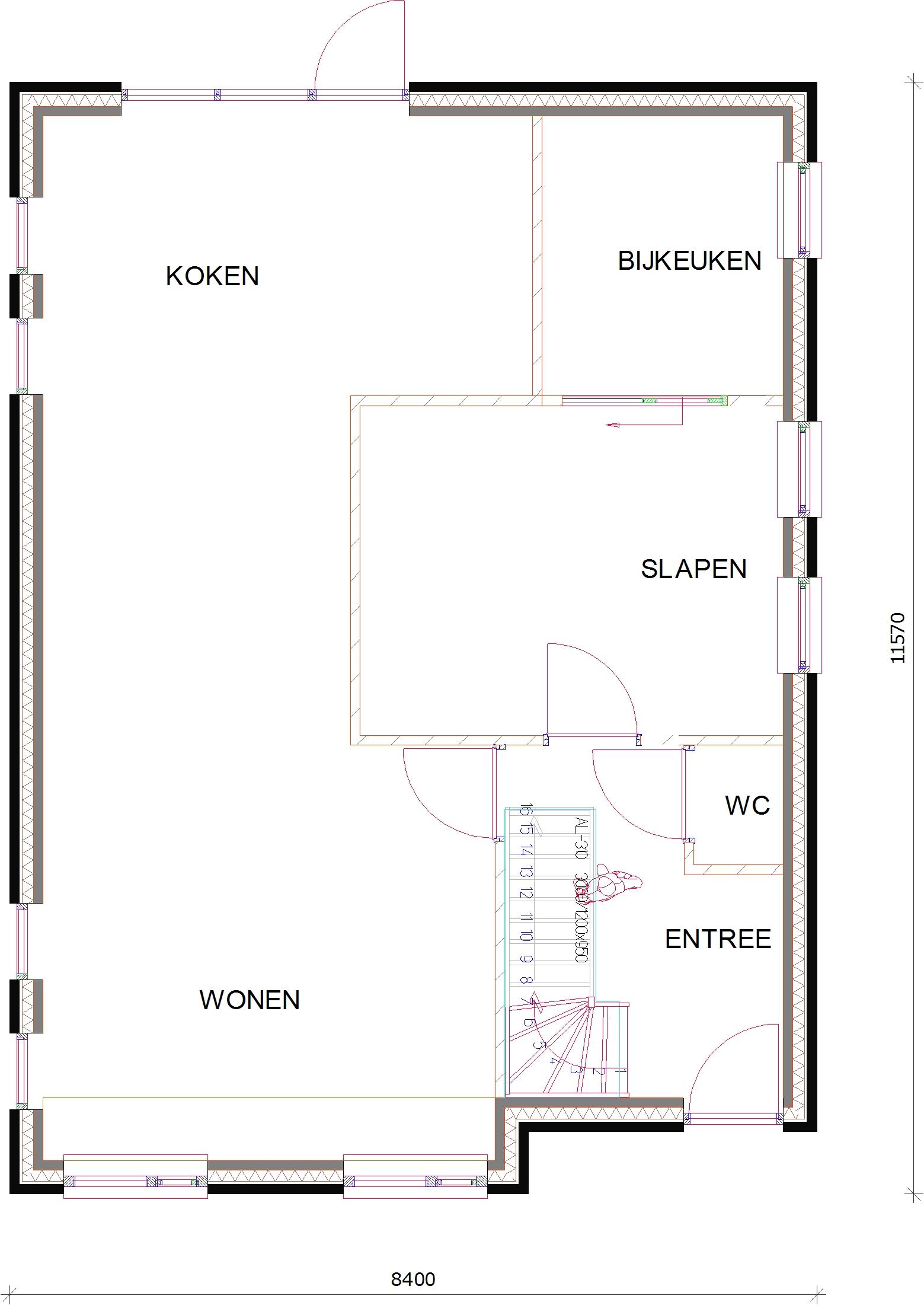 diverse fotosafbeeldingen van woningen met badkamerslaapkamer op de begane grond